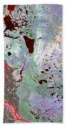 North Of Canada From Space Beach Towel