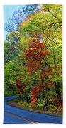 North Of The Folk Art Center In Fall Beach Towel