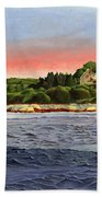North River At Sunset Beach Towel