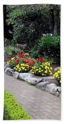 North Vancouver Garden Beach Towel by Will Borden