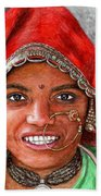 Northindian Woman Beach Towel
