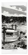 Gig Harbor Yacht Moorage Beach Towel