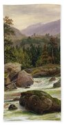 Norwegian Waterfall Beach Towel