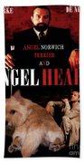 Norwich Terrier Art Canvas Print - Angel Heart Movie Poster Beach Towel