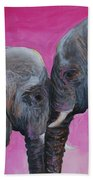 Nose To Nose In Pink Beach Towel