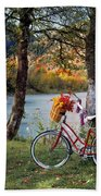 Nostalgia Autumn Beach Towel
