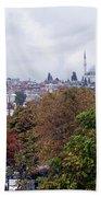 Nostalgia Of The Autumn In Istanbul Beach Towel