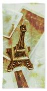 Nostalgic Mementos Of A Paris Trip Beach Towel