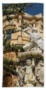 Noto Sicilian Baroque - Church Of San Domenico On A Bright Sunny Day Beach Towel