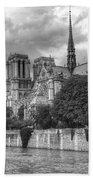 Notre Dame And Seine Beach Towel
