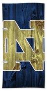 Notre Dame Barn Door Beach Towel