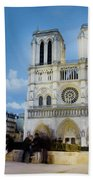 Notre Dame Cathedral Paris 3 Beach Towel