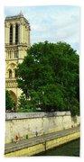 Notre Dame On The Seine Beach Towel
