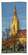 Notre Dame University Basilica Of The Sacred Heart Beach Towel