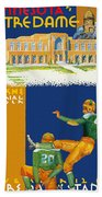 Notre Dame Versus Minnesota 1938 Program Beach Towel