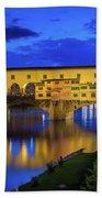 Notte A Ponte Vecchio Beach Towel