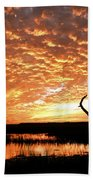 November Evening Beach Towel