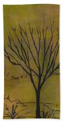 November Tree Beach Sheet