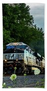 Ns 62w With Blurred Flowers Beach Towel