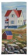 Nubble Light House Maine Beach Towel