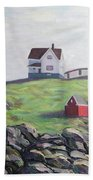 Nubble Light House Beach Towel