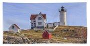 Nubble Lighthouse York Maine Beach Towel