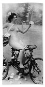 Nude And Bicycle, C1900 Beach Towel