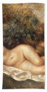 Nude Beach Towel by Pierre Auguste Renoir