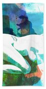Nude Woman Painting Photographic Print 0031.02 Beach Towel