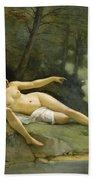 Nudes In The Woods Beach Towel