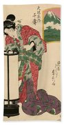 Numazu Senju Of The Sakaya 1823 Beach Towel