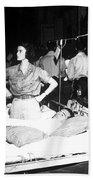 Nurse Adjusts Glucose Injection Beach Towel by Stocktrek Images