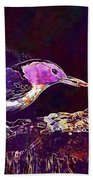Nuthatch White Breasted Nuthatch  Beach Towel