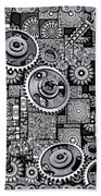 Nuts And Bolts Beach Towel by Eleni Mac Synodinos