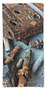 Nuts And Bolts Beach Towel