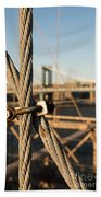 Nuts And Bolts Of The Brooklyn Bridge Beach Towel
