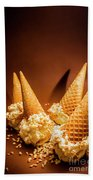 Nuts Over Ice-cream. Birthday Party Background Beach Towel