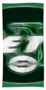 Ny Jets Fantasy Beach Towel by Paul Ward