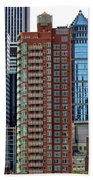 Nyc Architecture Buildings Tall  Beach Towel