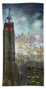 Nyc. Empire State Building Beach Towel