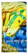 Nyc Golden Steed Quote Beach Sheet