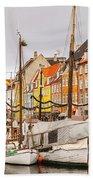 Nyhavn Area Copenhagen Beach Towel