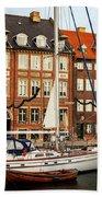 Nyhavn Area Of Copenhagen Beach Towel