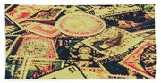 Nz Post Background Beach Towel