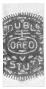 O R E O In Black Negative Beach Towel