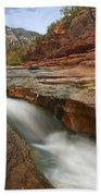 Oak Creek In Slide Rock State Park Beach Towel