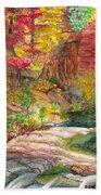 Oak Creek West Fork Beach Towel