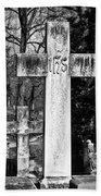 Oak Hill Cemetery Crosses #2 Beach Towel