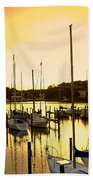 Oak Point Harbor Beach Towel