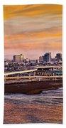 Oakland Sunset Beach Towel